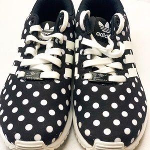 adidas Shoes - Adidas ZX Flux Black Polka Dots Women 7